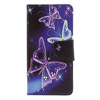OnePlus 5 Monedero Case-Glitter Mariposas