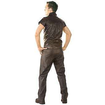 Skin Two Clothing Men's Leather Jeans Pants Black Sexy Kinky Outfit