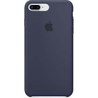 Originalverpackt Apple Silikon Mikrofaser Cover Hülle für iPhone 8+ Plus / 7+ - mitternachtblau