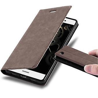 Huawei P8 LITE 2015ケースカバー用カドラボケース - 磁気留め金付き電話ケース、スタンド機能とカードコンパートメント - ケースカバー保護ケースケースケースケースケースブック折りたたみスタイル