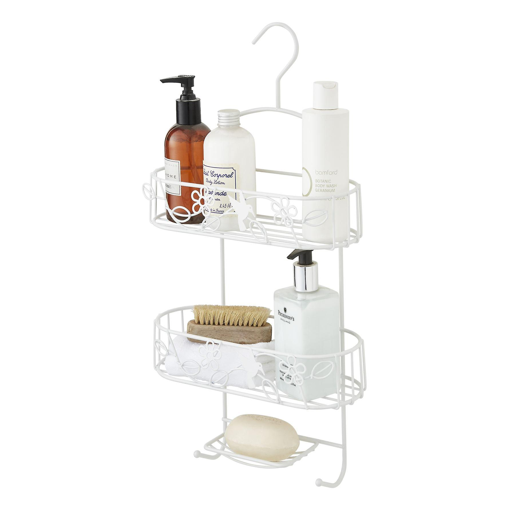 Shower Caddy In White Nano Powder Coating