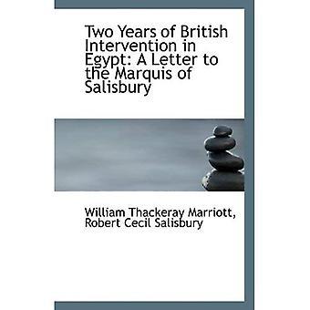 Deux ans d'Intervention britannique en Égypte: une lettre au Marquis de Salisbury