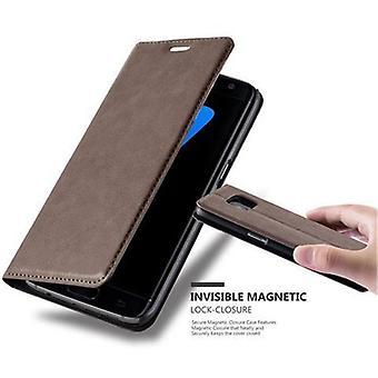Cadorabo Case pour Samsung Galaxy S7 EDGE case cover - Étui téléphonique avec fermoir magnétique, fonction du stand et compartiment de carte - Case Cover Protective Case Book Folding Style