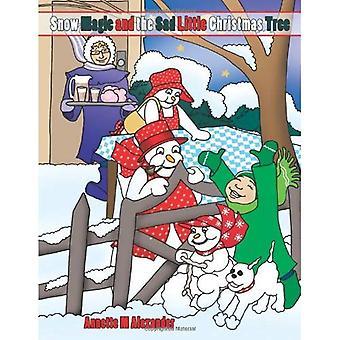 Magie de la neige et l'arbre de Noël peu triste