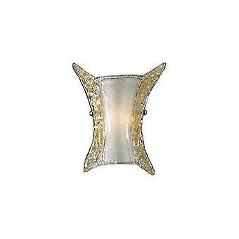 Idealne Lux - Ape małe jasne i Amber szklana ściana światło IDL002897