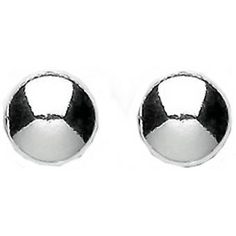 Bella pieni tasainen painiketta korvakorut - Silver