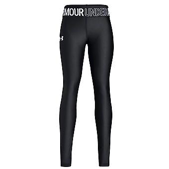 Under Armour Heatgear Armour Logo dziewczyny zamontowane Baselayer Legging czarny