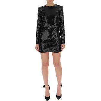 Amen Ams19415009 Kvinnor's Svart polyesterklänning
