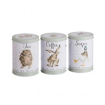 Wrendale Design Tea,Coffee & Sugar Tins