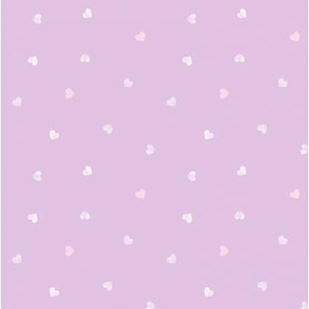 Pastel roxo lilás perolado amor coração meninas crianças berçário bebê papel de parede