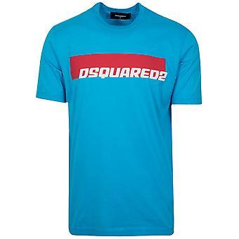 Dsquared2 turkos Print logo T-shirt