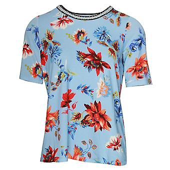 Betty Barclay Short Sleeve Round Neck Floral T-shirt