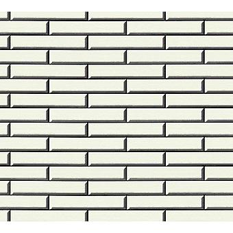 3D-Effect stenen muur schort Brick behang tegel Vinyl wit zwarte in reliëf