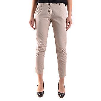Etiqueta Negra Ezbc183003 Women's Beige Cotton Pants