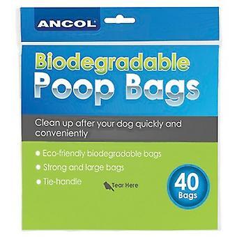 Ancol nye bio nedbrydelige poop tasker (12 pakninger af 40)
