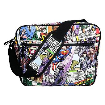 Superman Comic Strip Messenger taske