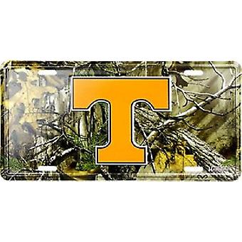 Tennessee Volunteers NCAA Camo License Plate
