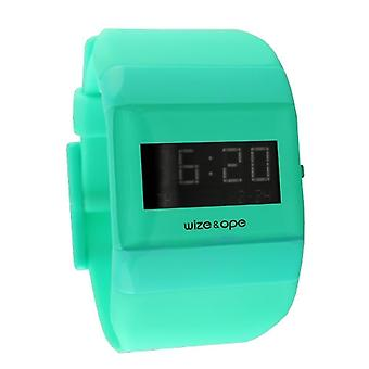 Wize and Ope Classic  Pastel Green Digital  Watch WO-ALL-11