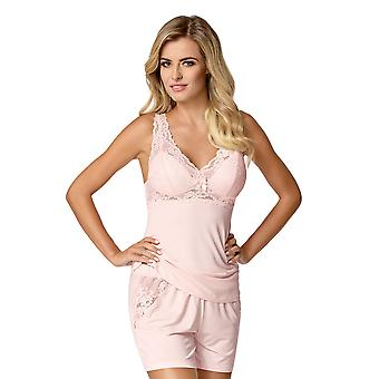 Nipplex femmes Bona rose brodé dentelle pyjama Short Set