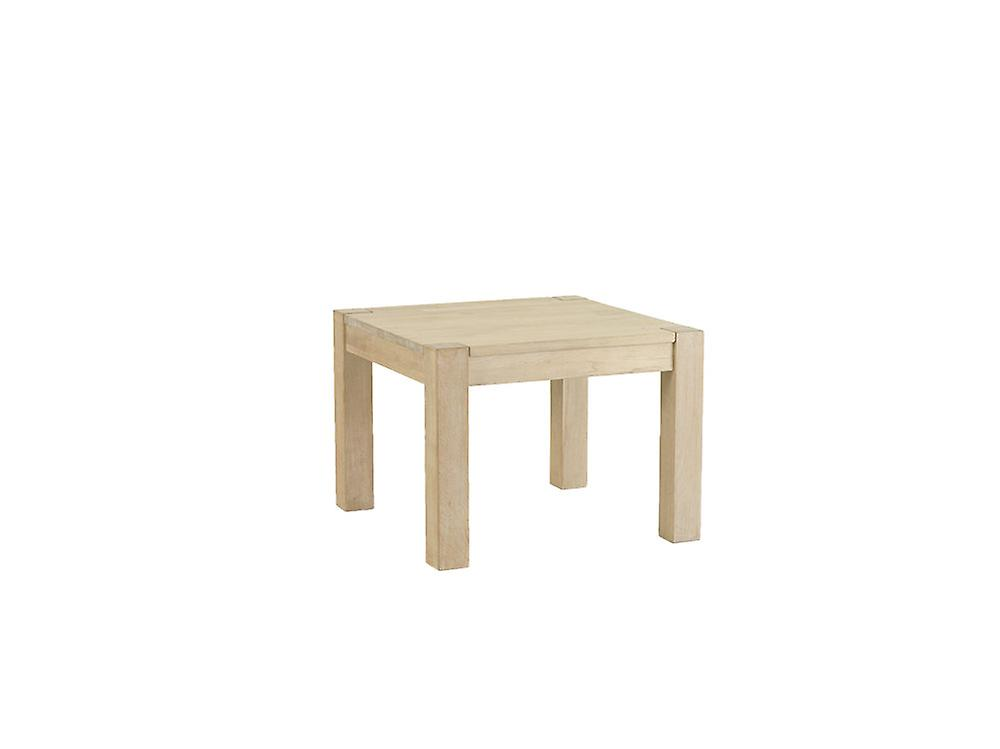 Furnhouse Texas Square Coffee Table, Solid Oak, Soap Finish, 70x70x52 cm