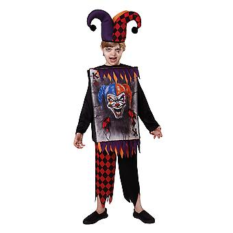 Bristol nyhed Childrens/Kids Jester Tabard Halloween kostume