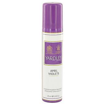 April violets body spray by yardley london 483232 77 ml