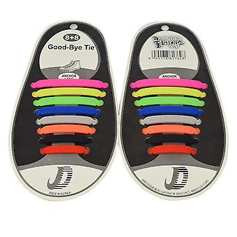 Trendy shoelaces that do not need to be tied 8 pairs-mixed color