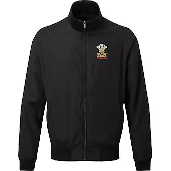 The Royal Welsh Veteran - Licensed British Army Embroidered Harrington Jacket