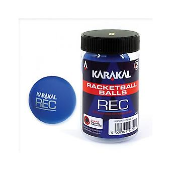 Karakal Recreation Ball Blue Squash Court Rubber Racketball Tub - Pack of 2