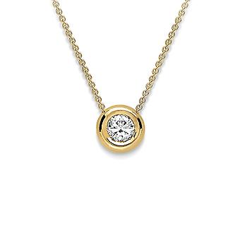Jewelco London 18ct Gold Diamond Slider Charm Necklace