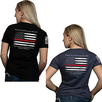 Nine Line Apparel Women's Thin Red Line Relaxed Fit Short Sleeve T-Shirt