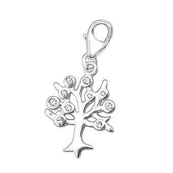 Tree Of Life - 925 Sterling Silver Charms With Lobster - W30694x