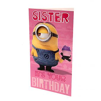 Despicable Me Minion Sister Birthday Card