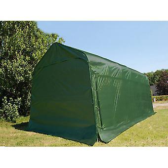 Garagetelt PRO 3,77x7,3x3,18m PVC, Grøn