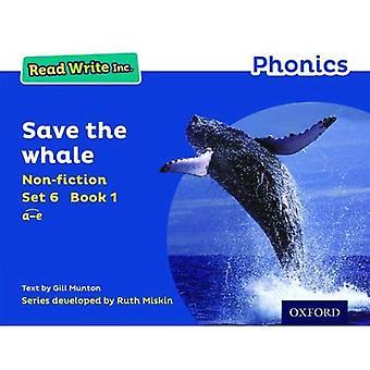 Read Write Inc. Phonics: Blau Set 6 Sachbuch 1 Speichern der Wal
