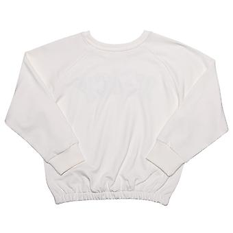 Infant Girls Juicy Couture Applique Sweat In White- Ribbed Waistband, Cuffs And