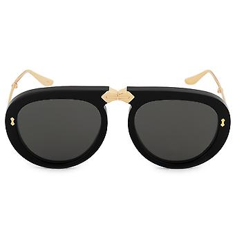 Gucci Oversized Foldable Aviator Sunglasses GG0306S 001 56