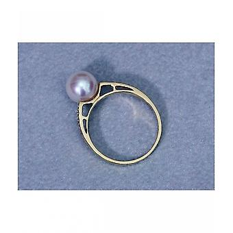 Luna-Pearls Akoya Beadring with Diamonds R85