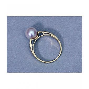 Luna-parels Akoya Beadring met diamanten R85
