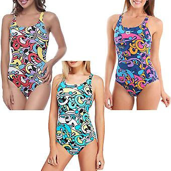 arena Womens Cores One Piece V Back Pool Training Swimming Swimsuit Costume