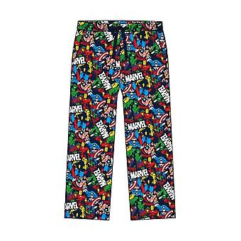 Men's Marvel Comic Print Design Lounge Pants