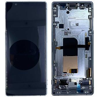 Sony Display LCD Komplett Einheit für 1319-9455 Xperia 5 J8210 / J9210 Grau mit Rahmen Ersatzteil Neu