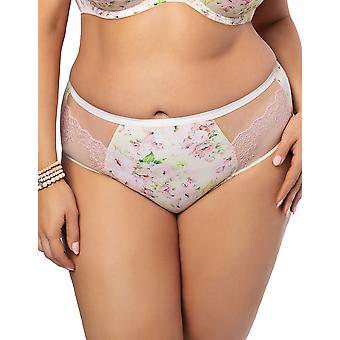 Gorsenia K471 Women's Hello Summer Multicolour Floral Lace Knickers Panty Full Brief
