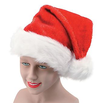 Bristol Novelty Unisex Plush Glitter Christmas Santa Hat