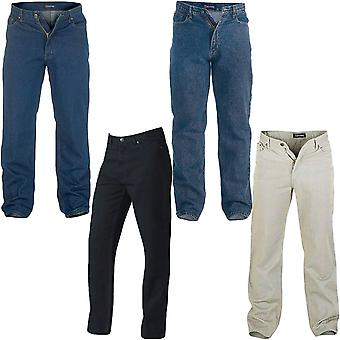 D555 Rockford Mens Comfort Big Tall King Size Casual Stretch Denim Jeans Pants