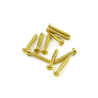 WD Music Humbucker Mounting Ring Screw Long Gold (bag Of 10)