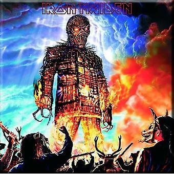 Iron Maiden Kühlschrank Magnet Wicker Man neue offizielle 76 x 76 mm