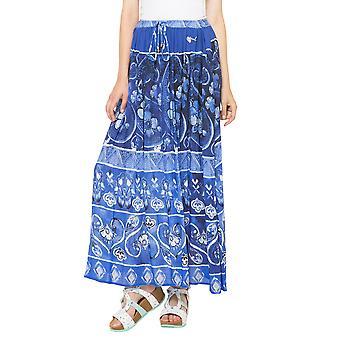 Desigual Women's Maldivas Printed Summer Maldivas Maxi Skirt
