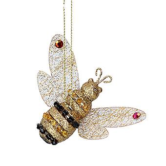 Gisela Graham Diamante Bumble Bee opknoping hars bauble ornament