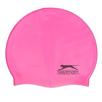 Slazenger Silicone Swimming Cap Adults Swim Water Sports Durable Design